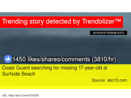 Coast Guard Searching For Missing 17 Year Old At Surfside Beach