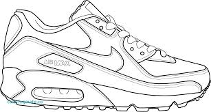 Free Printable Jordan Shoes Coloring Pages Air Shoes Coloring Page