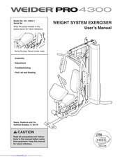 Weider Pro 4300 Exercise Chart Download Weiderpro Pro 4300 User Manual Pdf Download
