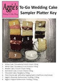 Quality is our first ingredient. Cake Sample Platter Aggie S Bakery Cake Shop