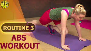 Golds Gym At Home Workouts Routine 3 Abs And Belly Fat Burning Workout