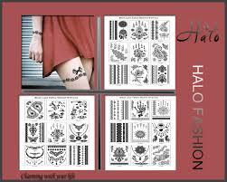 китай девушка Body Art черный цвет временные татуировки наклейки для продажи T005 009 Buy