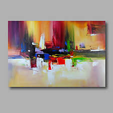 Canvas abstract artwork Decorations Oil Painting Hand Painted Abstract Modern Stretched Canvas Rolled Canvas Discount Canvas Prints Cheap Abstract Paintings Online Abstract Paintings For 2019