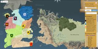 this map shows you around the game of thrones universe