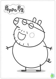 Print free peppa pig coloring pages. Peppa Pig Coloring Page Dinokids Org