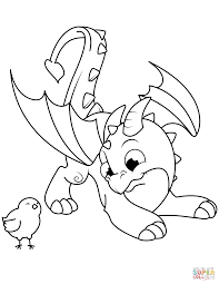 Coloring Book Dragon Pages Free Cute And Chick Page 1159x1500 21