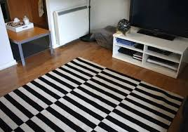 ikea stockholm rug striped black and white