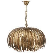 atticus 5 light pendant gold