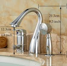 chrome brass bathroom roman tub faucet deck mount with handheld shower bathtub mixer taps finish