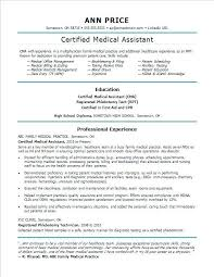 Resume Objective For Medical Field Fascinating Objective For Resume In Medical Field Colbroco