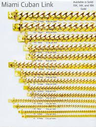 Handmade Solid 14k Yellow Gold 5 75mm Miami Cuban Link