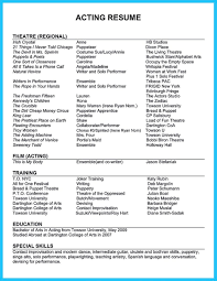 Awesome Outstanding Acting Resume Sample To Get Job Soon Resume