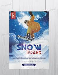 snow boards sport photoshop flyer template snow boards sport photoshop flyer template com