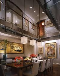contemporary dining room pendant lighting. contemporary dining room with pendant light high ceiling loft hardwood floors bolier lighting d