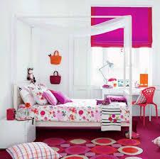 Bedroom Beautiful Teenage Girl Bedroom Design Using White Canopy Bed