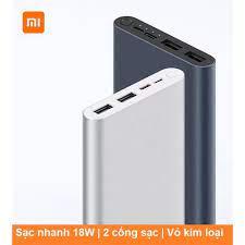 Sạc Dự Phòng - Sạc Dự Phòng Xiaomi Gen 3 10000Mah -- Hỗ Trợ Sạc Nhanh 2  Chiều Qc 3.0 18W