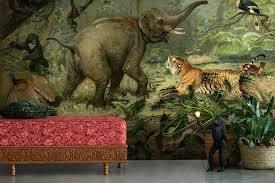 jungle wallpaper for walls. Interesting Jungle Jungle Animal Wall Mural By La Feature Inside Wallpaper For Walls