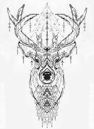 1899x2593 Deer Head Tattoo Geometric Tattoo Ideas олени тату