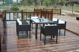 garden glass dining table rattan coffee table 1