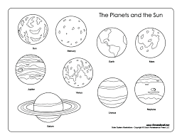 Solar system printable coloring pages