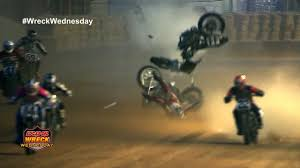 motorcycle breaks in half at the indy mile flat track ww 2