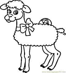 Small Picture Sheep Coloring Page 10 Coloring Page Free Sheep Coloring Pages