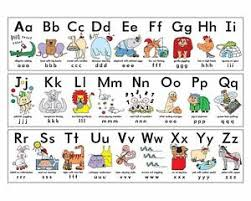 Details About Alphabet A Z Children Kids Educational Poster Chart A4 Size School Home Learn