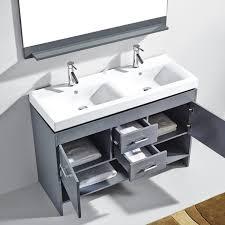 double sink bathroom vanity set. virtu usa gloria 48-inch grey double sink bathroom vanity cabinet set -