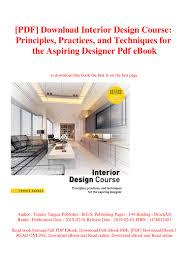 B Interior Design Course Pdf Download Interior Design Course Principles Practices