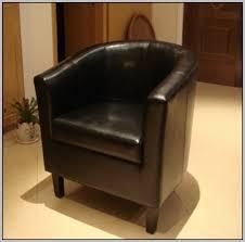 black leather tub chair argos