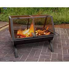Square Fully Enclosed Portable Cooking Fire Pit Fire Pit Heater Cool Fire Pits Wood Burning Fire Pit