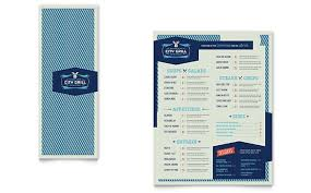 Fine Dining Restaurant Take Out Brochure Template Word Publisher