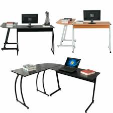 new l shaped desk office computer glass