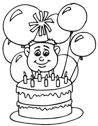 Happy Birthday Balloons Coloring Page Free Coloring Pages