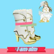 Umi Shoes Size Chart Us 51 1 27 Off Love Live Eli Ayase Ellie Kousaka Honoka Minami Kotori Sonoda Umi Cosplay Wedding White Shoes In Shoes From Novelty Special Use On