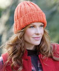 Free Knitted Hat Patterns On Circular Needles Impressive EasyFit Ribbed Hat Red Heart