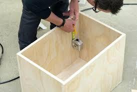 wood box frame coffee table making