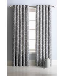 collection trellis lined eyelet curtains 117 x 137cm grey at argos co