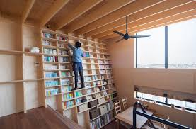 Japanese Bookcase Design This Japanese Book Shelf House Features An Earthquake