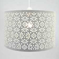 white large metal drum light shade wide copper