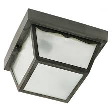 Carport Light Fixtures Nuvo Two Light 10 In Carport Frosted Flush Mount Light