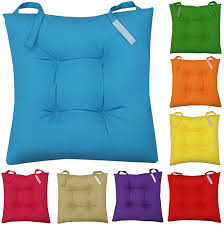selection of colourful chair cushions in various colours