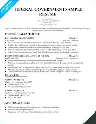 Federal Resume Template New Sample Federal Government Resume Resume Template Federal Government