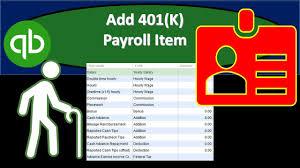 Add 401 K Payroll Item In Quickbooks