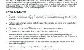Accounts Payable Responsibilities Resume Accounts Receivables Resume