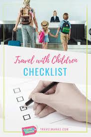 Travel With Children Checklist Travelmamas Com