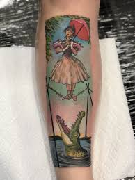 Haunted Mansion Stretching Room Portrait Tattoo Done At Citrus Park