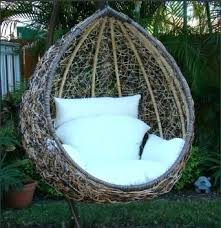 wonderful outdoor chair swing weller outdoor wicker basket swing chair with stand