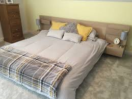 super king size wooden bed from ikea with mattress