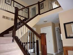 Stairs, Cool Stairway Railing Stair Railing Parts Dark Brown With Silver  Iron Stairway Railing: